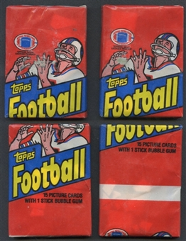 1982 Topps Football Wax Pack 135 Count Miswrap Lot