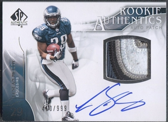 2009 SP Authentic #390 LeSean McCoy Rookie Patch Auto #410/999