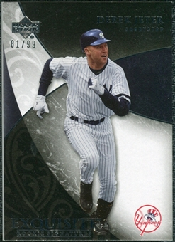 2007 Upper Deck Exquisite Collection Rookie Signatures #6 Derek Jeter 81/99