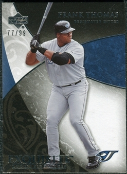 2007 Upper Deck Exquisite Collection Rookie Signatures #20 Frank Thomas /99
