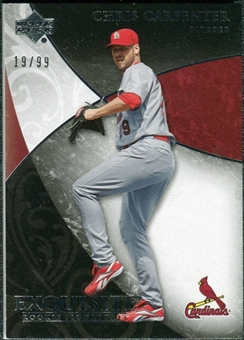 2007 Upper Deck Exquisite Collection Rookie Signatures #21 Chris Carpenter /99