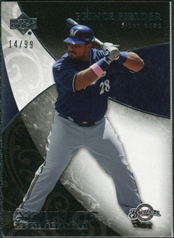 2007 Upper Deck Exquisite Collection Rookie Signatures #22 Prince Fielder /99