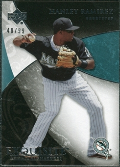 2007 Upper Deck Exquisite Collection Rookie Signatures #41 Hanley Ramirez /99