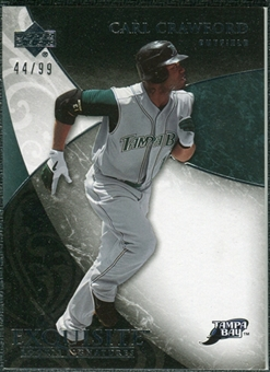 2007 Upper Deck Exquisite Collection Rookie Signatures #52 Carl Crawford /99