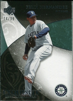 2007 Upper Deck Exquisite Collection Rookie Signatures #64 Felix Hernandez /99