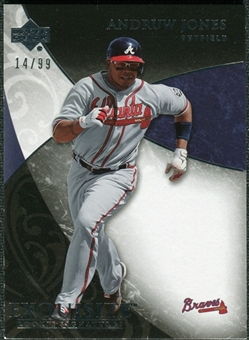 2007 Upper Deck Exquisite Collection Rookie Signatures #65 Andruw Jones /99