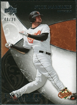 2007 Upper Deck Exquisite Collection Rookie Signatures #89 Nick Markakis /99