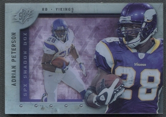 2009 SPx Shadow Box #SAP Adrian Peterson /10