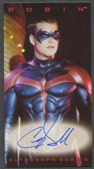 1997 Batman and Robin Autographs Chris O'Donnell as Robin Auto