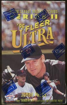 1996 Fleer Ultra Series 2 Baseball Jumbo Retail 20 Pack Box