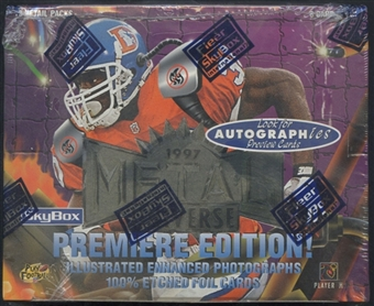 1997 Skybox Metal Universe Football Retail Box
