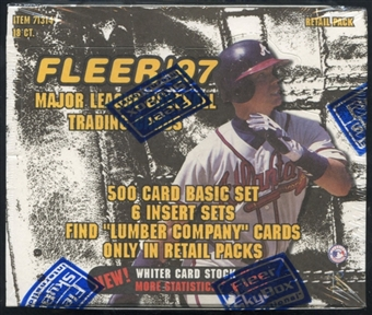 1997 Fleer Series 1 Baseball Retail Box