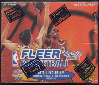 1997/98 Fleer Series 1 Basketball Retail Box