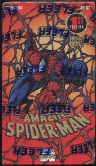 The Amazing Spiderman 1st Edition Retail Loader Box (1994 Fleer)