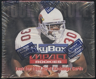 1996 Skybox Impact Rookies Football Retail Box