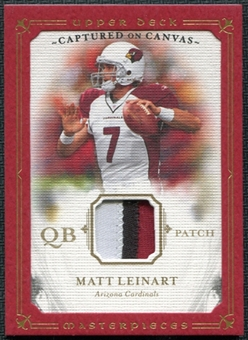 2008 Upper Deck Masterpieces Captured on Canvas Jerseys Patch #CC50 Matt Leinart 12/50