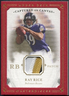 2008 Upper Deck Masterpieces Captured on Canvas Jerseys Patch #CC56 Ray Rice 26/50