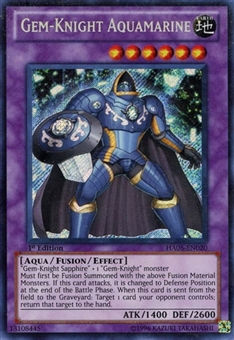 Yu-Gi-Oh Hidden Arsenal 5 Single Gem-Knight Aquamarine Secret Rare