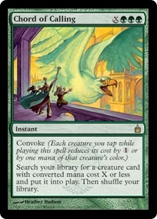 Magic the Gathering Ravnica Single Chord of Calling - SLIGHT PLAY (SP)