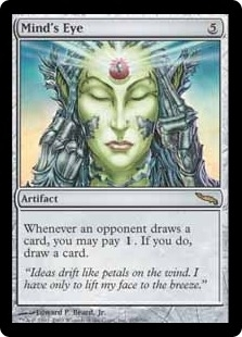 Magic the Gathering Mirrodin Single Mind's Eye MODERATE PLAY (VG/EX)