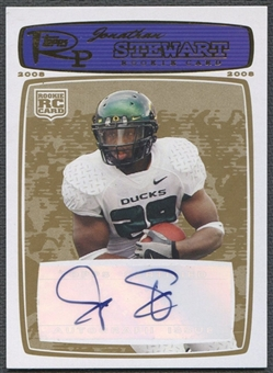 2008 Topps Rookie Progression #188 Jonathan Stewart Rookie Auto Gold #05/10