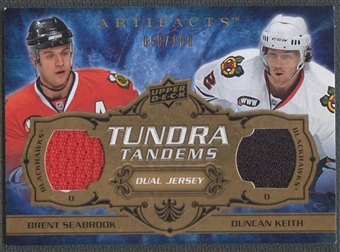 2008/09 Artifacts #TTBD Brent Seabrook & Duncan Keith Tundra Tandems Jersey #059/100