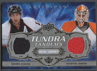 2008/09 Artifacts #TTPF Simon Gagne & Martin Biron Tundra Tandems Silver Jersey #25/50