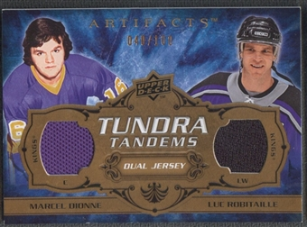 2008/09 Artifacts #TTRD Marcel Dionne & Luc Robitaille Tundra Tandems Jersey #040/100