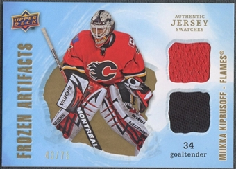 2008/09 Artifacts #FADMK Miikka Kiprusoff Frozen Artifacts Dual Gold Jersey #43/75