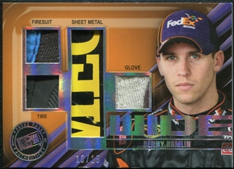 2011 Press Pass Four Wide Sheet Metal #FWDH Denny Hamlin 10/15