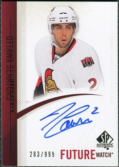 2010/11 Upper Deck SP Authentic #261 Jared Cowen RC Autograph /999