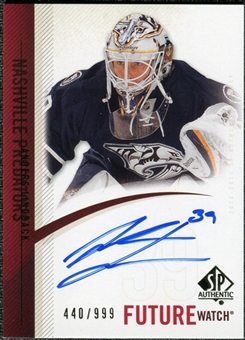 2010/11 Upper Deck SP Authentic #269 Anders Lindback RC Autograph /999