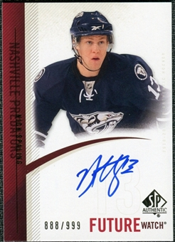 2010/11 Upper Deck SP Authentic #270 Nick Spaling RC Autograph /999
