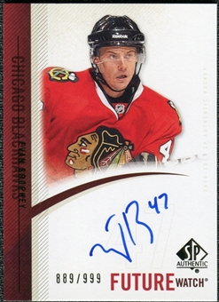 2010/11 Upper Deck SP Authentic #284 Evan Brophey RC Autograph /999