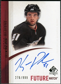 2010/11 Upper Deck SP Authentic #308 Kyle Palmieri RC Autograph /999
