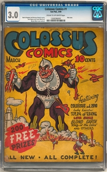 Colossus Comics #1 CGC 3.0 (C-OW) *1269286001*