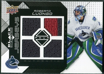 2008/09 Upper Deck Black Diamond Jerseys Quad #BDJRL Roberto Luongo