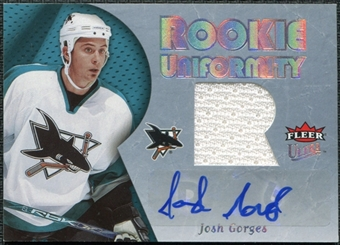 2005/06 Fleer Ultra Rookie Uniformity Jersey Autographs #ARUJG Josh Gorges /25