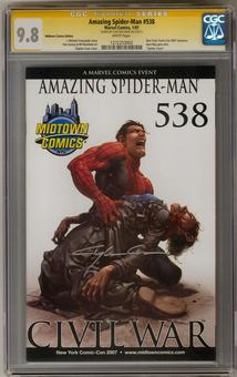 Amazing Spider-Man #538 Midtown Variant CGC 9.8 (W) Signature Series (Clayton Crain) *1272253002*