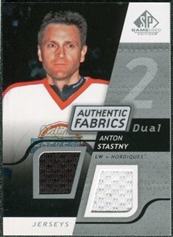 2008/09 Upper Deck SP Game Used Dual Authentic Fabrics #AFAS Anton Stastny