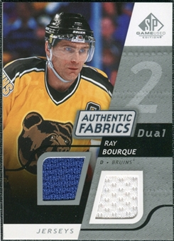2008/09 Upper Deck SP Game Used Dual Authentic Fabrics #AFBQ Ray Bourque