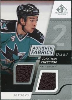 2008/09 Upper Deck SP Game Used Dual Authentic Fabrics #AFCH Jonathan Cheechoo