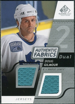 2008/09 Upper Deck SP Game Used Dual Authentic Fabrics #AFDB Doug Gilmour