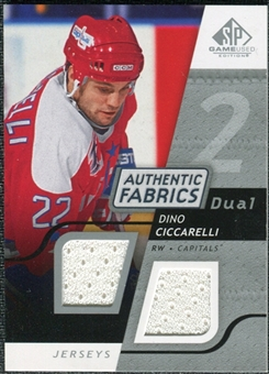 2008/09 Upper Deck SP Game Used Dual Authentic Fabrics #AFDC Dino Ciccarelli