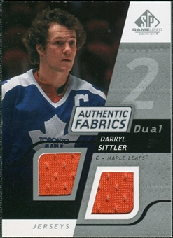 2008/09 Upper Deck SP Game Used Dual Authentic Fabrics #AFDL Darryl Sittler