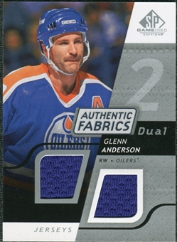 2008/09 Upper Deck SP Game Used Dual Authentic Fabrics #AFGA Glenn Anderson