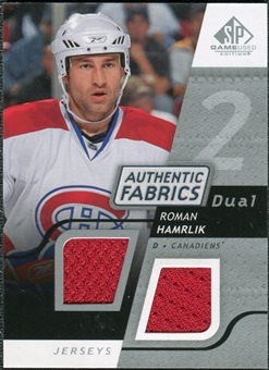 2008/09 Upper Deck SP Game Used Dual Authentic Fabrics #AFHK Roman Hamrlik