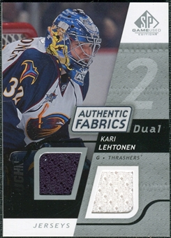 2008/09 Upper Deck SP Game Used Dual Authentic Fabrics #AFKL Kari Lehtonen