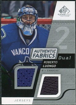 2008/09 Upper Deck SP Game Used Dual Authentic Fabrics #AFLG Roberto Luongo