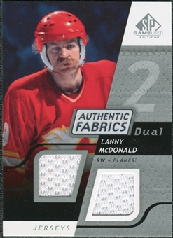 2008/09 Upper Deck SP Game Used Dual Authentic Fabrics #AFLM Lanny McDonald